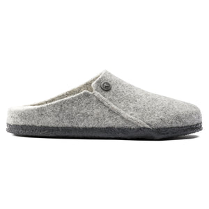 Birkesntock Zermatt Shearling Slipper - Light Gray / Natural