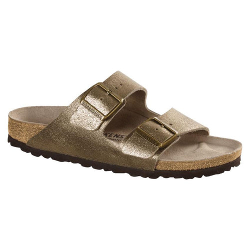 Birkenstock Arizona Sandal - Antique Gold Washed Metallic Leather