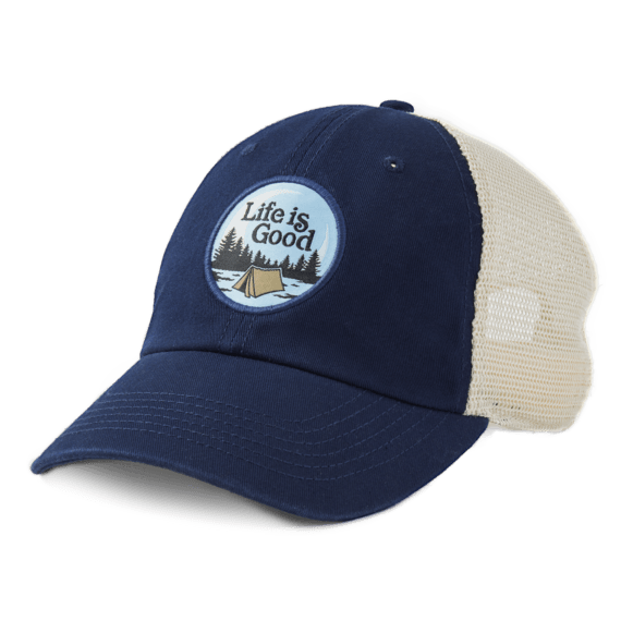 Life is Good Camping Soft Mesh Back Cap
