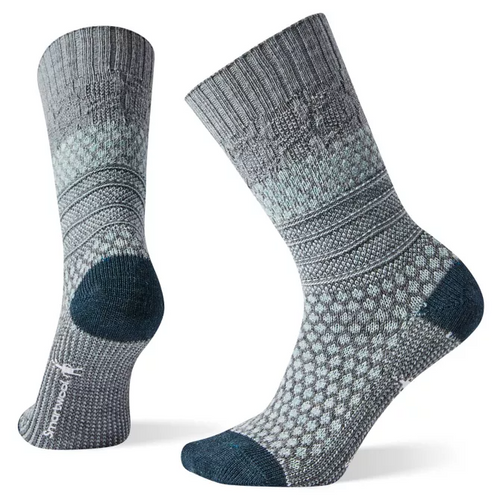 Smartwool Popcorn Cable Sock - Lunar Grey