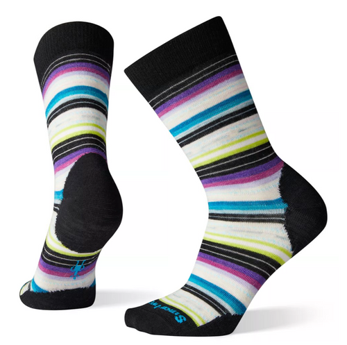 Smartwool Margarita Sock - Black/Meadow Mauve