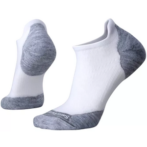 Smartwool PhD Run Light Elite Micro Sock - White/Light Gray