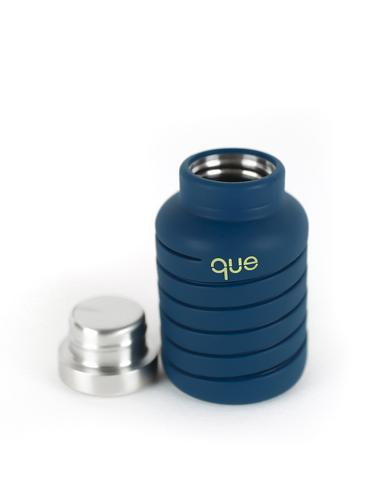Que 20oz Water Bottle Midnight Blue