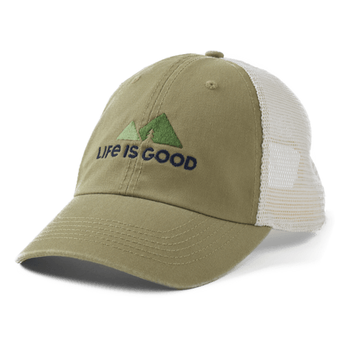 Life is Good Minimal Mountain Soft Mesh Back Cap