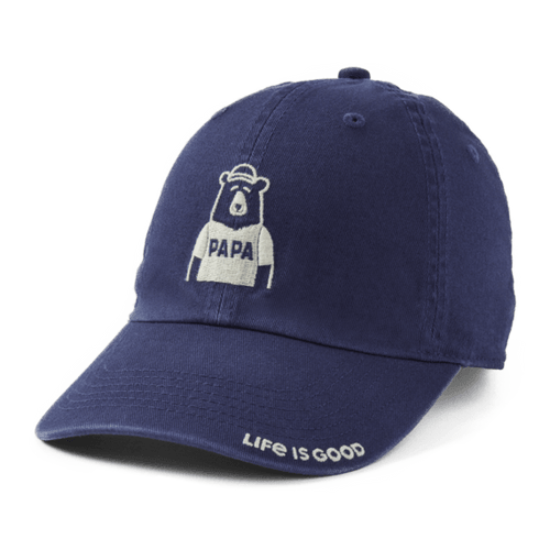Life is Good Papa Bear Chill Cap - Darkest Blue