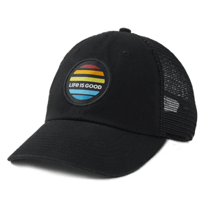 Life is Good Sunrise Patch Soft Mesh Back Cap