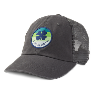Life is Good Shamrock Soft Mesh Back Cap
