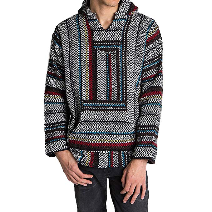 Baha Joe Unisex Striped Woven Pullover Hoodies