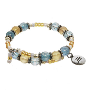 Air Element Wrap Beaded Gemstone Bracelet