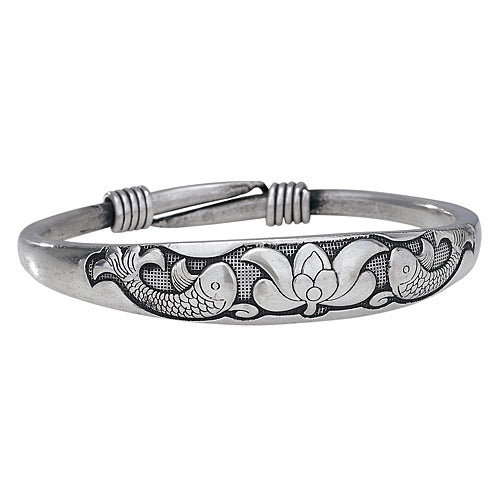Muntz Metal Lotus Bangle