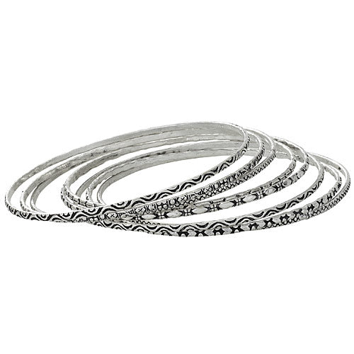 Set of 8 Thin Bangles