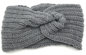 Knitted Twist Stretch Headband