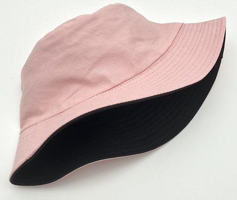 Pink and Black Reversible Bucket Hat