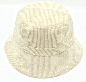Cream Cord Bucket Hat