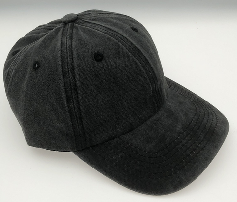 Black Washed Denim Cap
