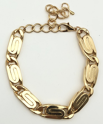 Gold Metal Swirl Design Bracelet