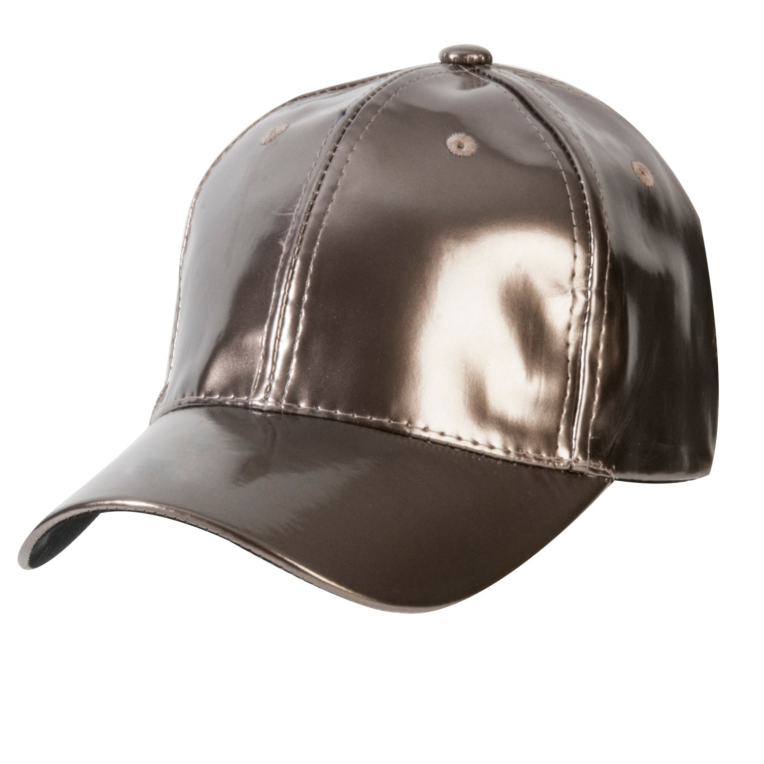 Pewter Shiny PU Cap