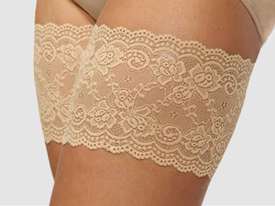 Nude Lace Chafing Pads L