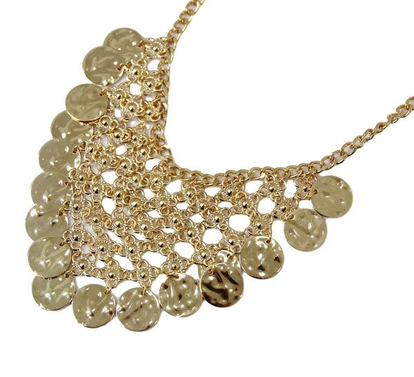 Gold Metal Coin Necklace