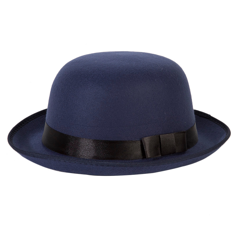 Bowler Hat with Black Ribbon