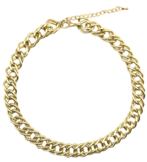 Wide Chain Link Necklace