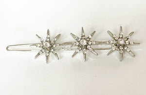 Silver 3 Star Hair Slide