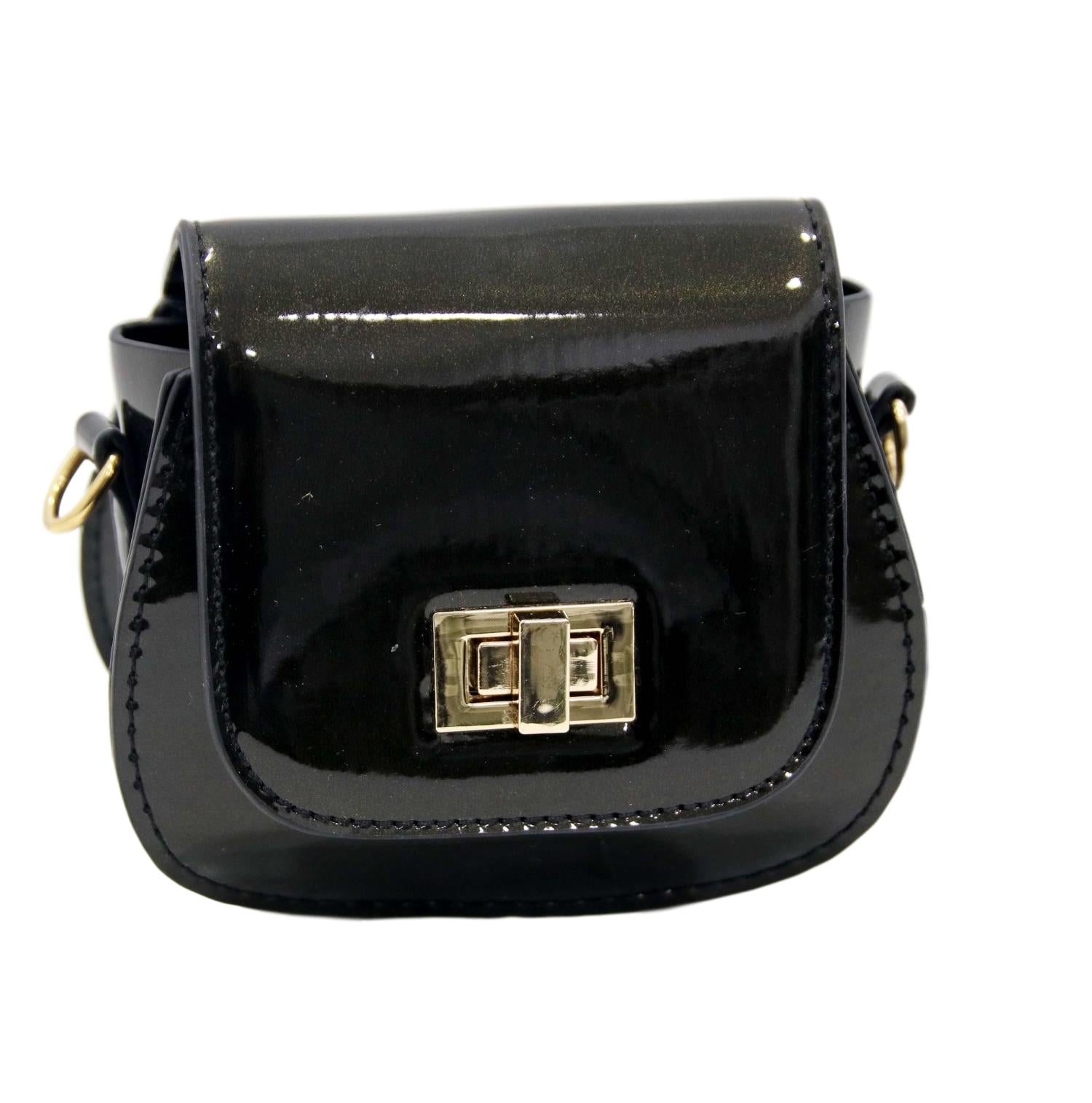 Black Patent Mini Bag