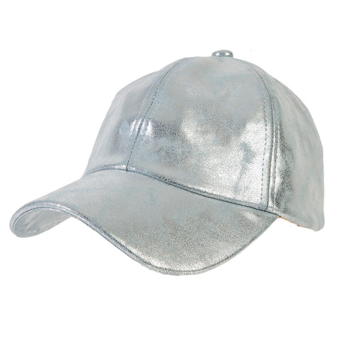 Blue PU Metallic Cap