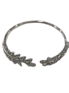 Diamante Leaf Upper Arm Cuff