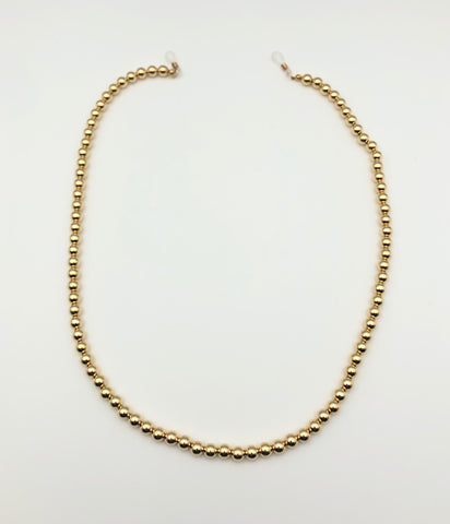 Gold 8mm Bead Sunglasses Chain