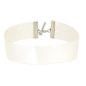 Cream Satin Ribbon Choker