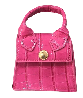 Fuchsia Croc Super Mini Bag