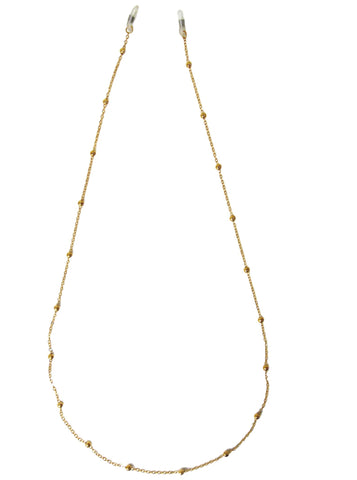 Gold Metal Bead Sunglasses Chain