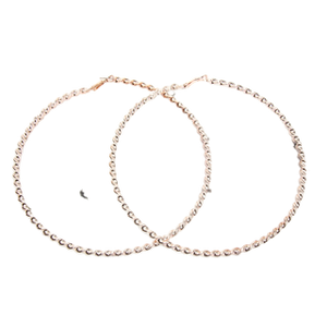 12cm Rose Gold Large Twisted Hoops