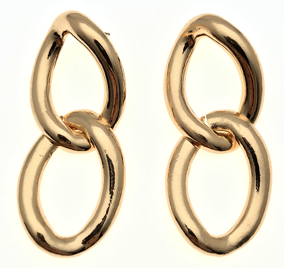 Gold Oversized Chain Link Earrings