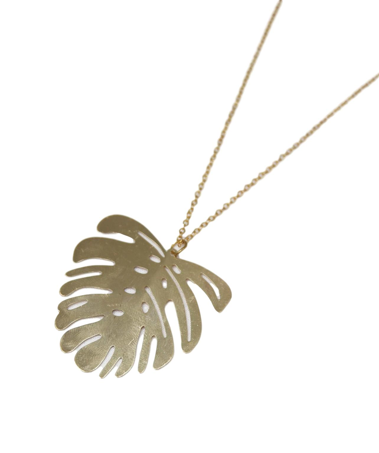 Gold Tropical Necklace