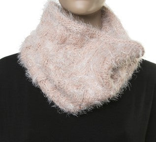 Pink Fluffy Snood Scarf