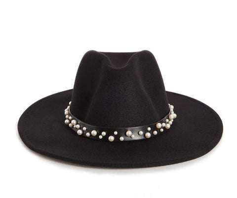 Fedora with pearl band