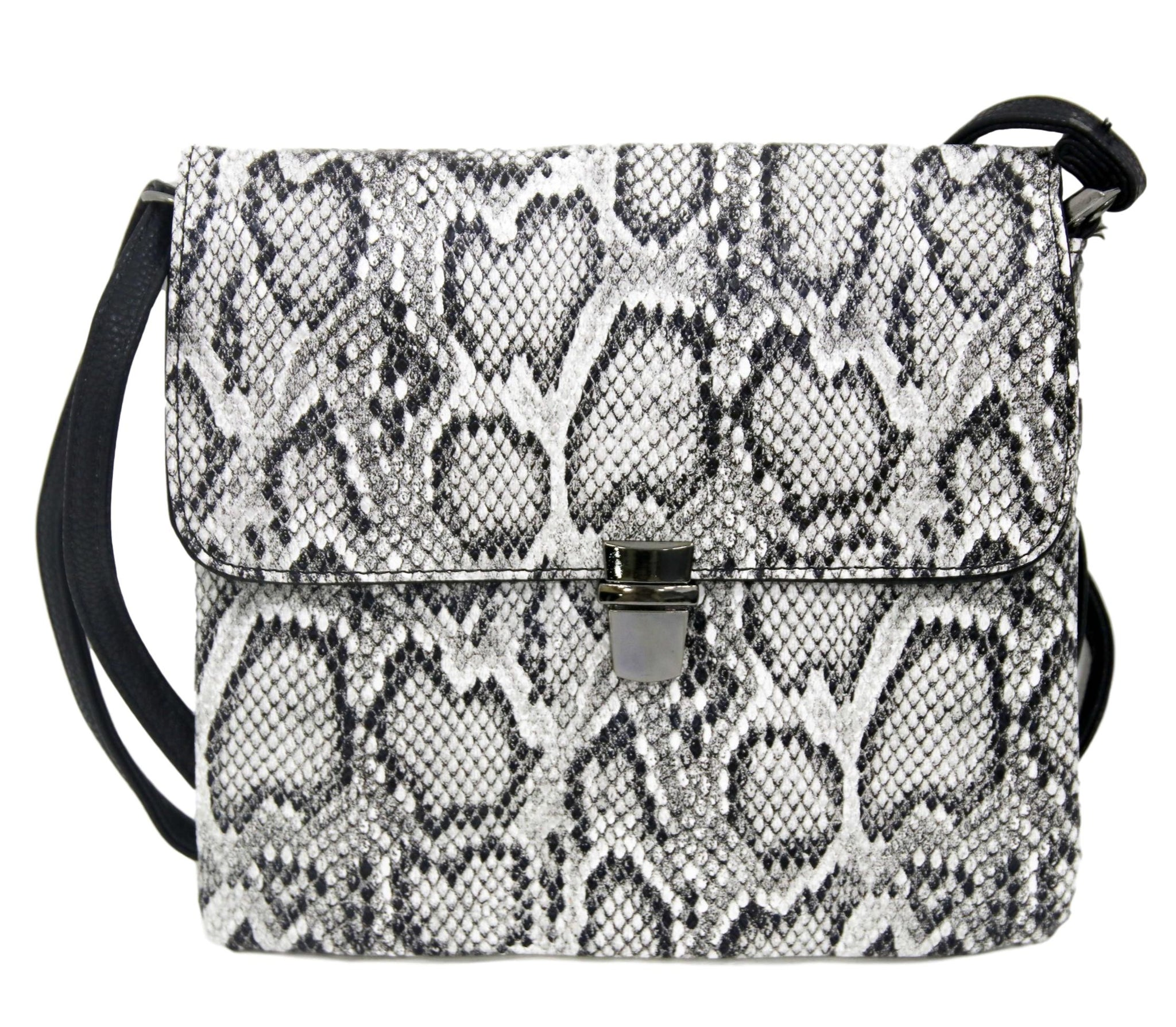 Black and White Checkerboard Side Bag