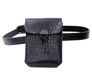 Black Croc Purse Belt
