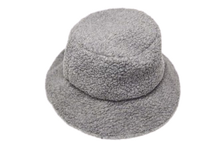 Grey Teddy Bucket Hat