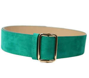 VELVET JEAN BELT WITH SQUARE BUCKLE