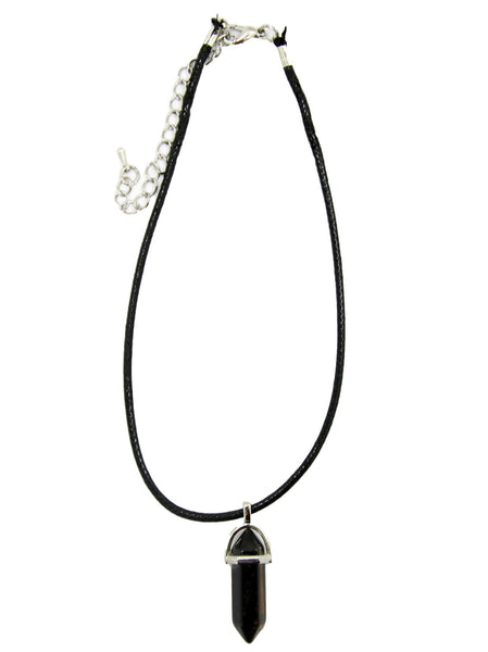 PU Choker with Crystal Detail