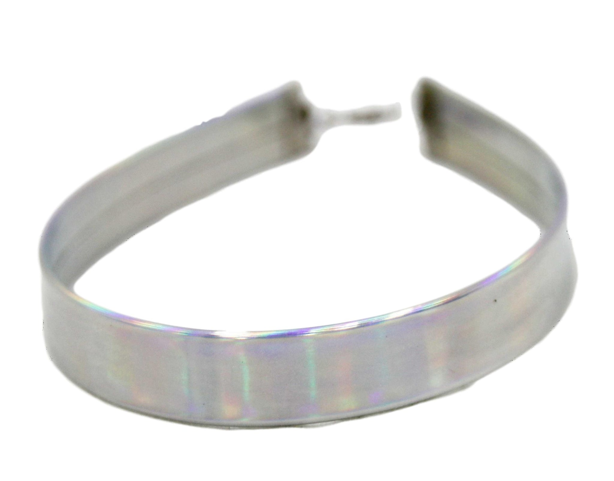 Silver 1.5cm Holographic Choker