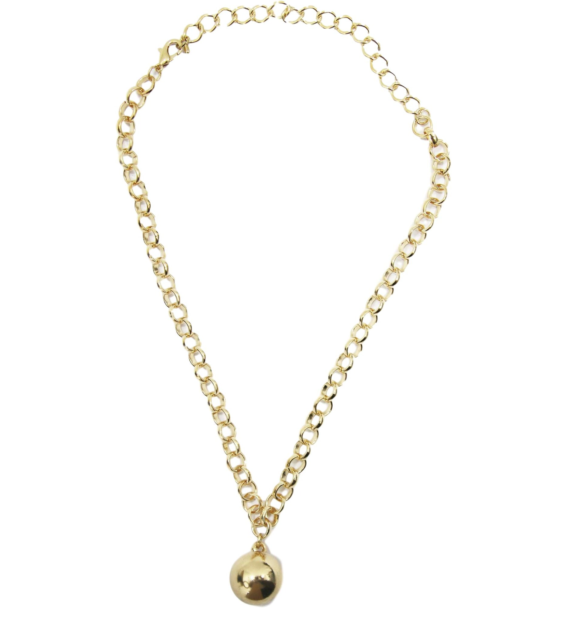 Circle Ball Pendant Choker