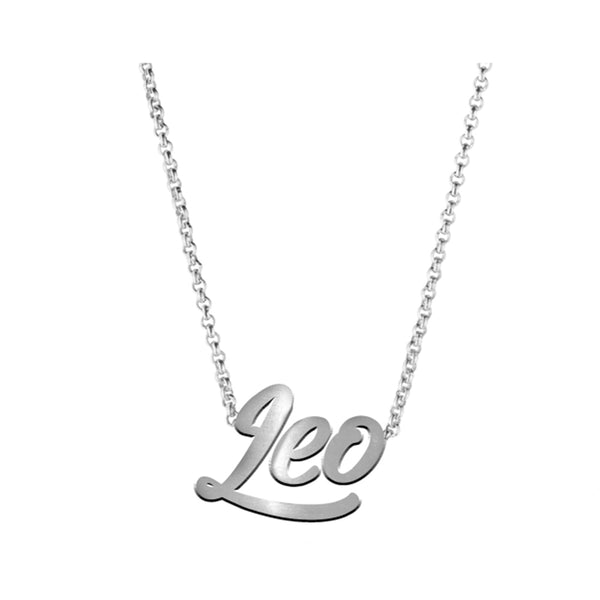 Silver Leo Necklace