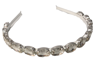 Clear Stone Metal Headband