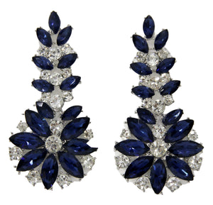 Blue Diamante Statement Earring