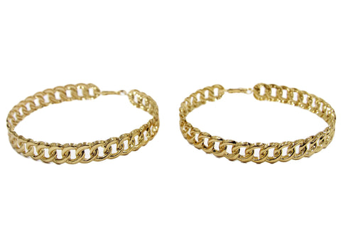 Oversized Chain Hoops