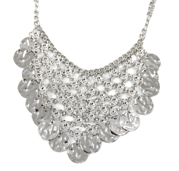 Silver Metal Coin Necklace